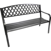 Jordan Steel Lattice Park Bench