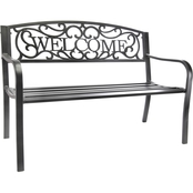 Jordan Steel Welcome Park Bench