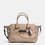 COACH Swagger 27 Satchel In Mixed Leathers
