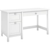 Bush Furniture Broadview Computer Desk with 2 Drawer Pedestal