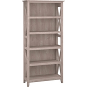Bush Furniture Key West 5 Shelf Bookcase