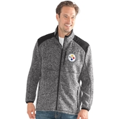 G-III Sports NFL Pittsburgh Steelers Team Back Country Sweater Fleece Jacket