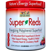 Country Farms Super Reds, Berry Flavor, 7.1 oz. Per Jar