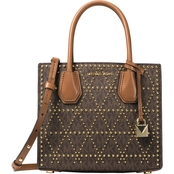 Michael Kors Mercer Stud & Grommet Medium Messenger