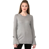 Karl Lagerfeld Bows Cold Shoulder Sweater