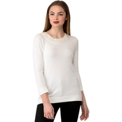 Karl Lagerfeld Pearl Neck Sweater