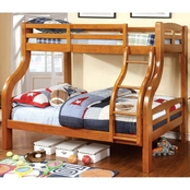 Furniture of America Solpine Big Post Twin/Full Bunk Bed