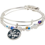 Alex and Ani Hope Set of 2 Charm Bangle Bracelets