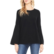 Two by Vince Camuto Bell Sleeve Soft Fleece Top