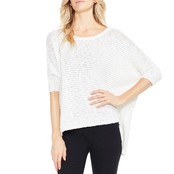 Two by Vince Camuto Open Stitch Dolman Sweater