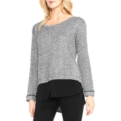 Two by Vince Camuto Lurex Herringbone Jacquard Top
