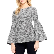 Two by Vince Camuto Space Dye Knit Bell Sleeve Top