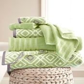 Pacific Coast Textiles 6 Pc. Yarn Dyed Oxford Towel Set