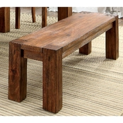 Furniture of America Frontier Dining Bench