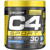 Cellucor C4 Sport Blue Raspberry Dietary Supplement, 30 Servings