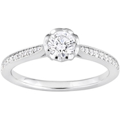 Diamore 14K White Gold 5/8 CTW Diamond Engagement Ring with Heart Design Gallery
