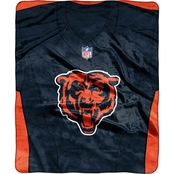 Northwest NFL 07080 Bears Jersey Raschel Throw