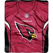 Northwest NFL 07080 Cardinals Jersey Raschel Throw