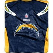 Northwest NFL 07080 Chargers Jersey Raschel Throw