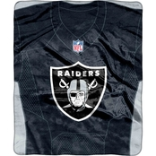 Northwest NFL 07080 Raiders Jersey Raschel Throw