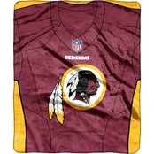Northwest NFL 07080 Redskins Jersey Raschel Throw