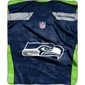 Northwest NFL 07080 Seahawks Jersey Raschel Throw