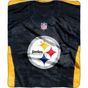 Northwest NFL 07080 Steelers Jersey Raschel Throw