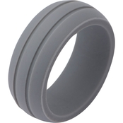 Gray Silicone Embossed Ring