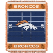Northwest NFL 04401 Broncos Field Baby Throw