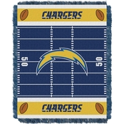 Northwest NFL 04401 Chargers Field Baby Throw