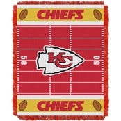 Northwest NFL 04401 Chiefs Field Baby Throw