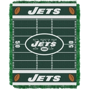 Northwest NFL 04401 Jets Field Baby Throw