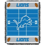 Northwest NFL 04401 Lions Field Baby Throw