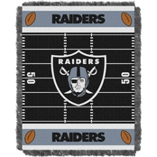 Northwest NFL 04401 Raiders Field Baby Throw