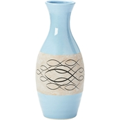 Roman 15 in. Ichthus Blue Vase