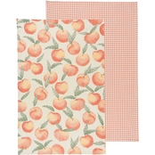 Now Designs Peaches Kitchen Dishtowel 2 Pc. Set.