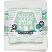 Now Designs Kitchen Towel Set Good Clean Fun, Spearmint