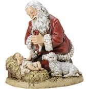 Joseph's Studio Kneeling Saint with Baby Jesus and Lamb Figurine