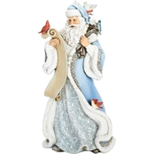Joseph's Studio 14 In. Santa with Cardinal and Other Feathered Friends Figurine