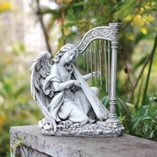 Joseph's Studio Angel Kneeling with Hard Wind Chime Statue