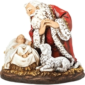 Joseph's Studio Kneeling Santa with Lamb and Child Figurine