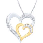 14K Gold Over Sterling Silver 1/7 CTW Diamond Pendant