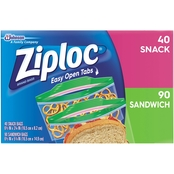 Ziploc Sandwich Snack Duo, 130 Count