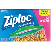 Ziploc Mega Snack Bag 280 ct.