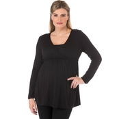 New Recruit Plus Size Maternity Empire Top