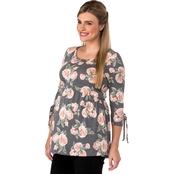 New Recruit Maternity Empire Waist Floral Top