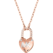 Michael Kors Logo Love Necklace With Heart Shaped Pendant