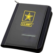 TLJ Marketing & Sales Army Zippered Padfolio