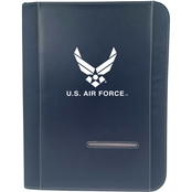 TLJ Marketing & Sales U.S. Air Force Zippered Padfolio