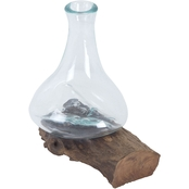 Dimond Home Jetsam Teak Root and Glass Vessel, Tall